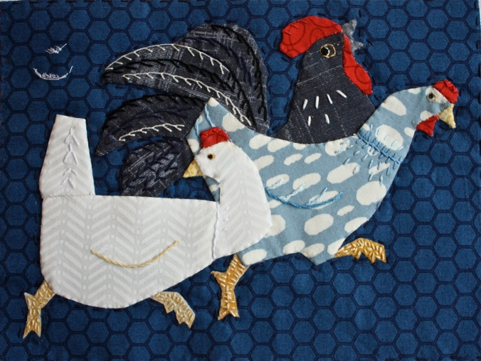 My Blue Hen' | An English Paper Piecing Journey