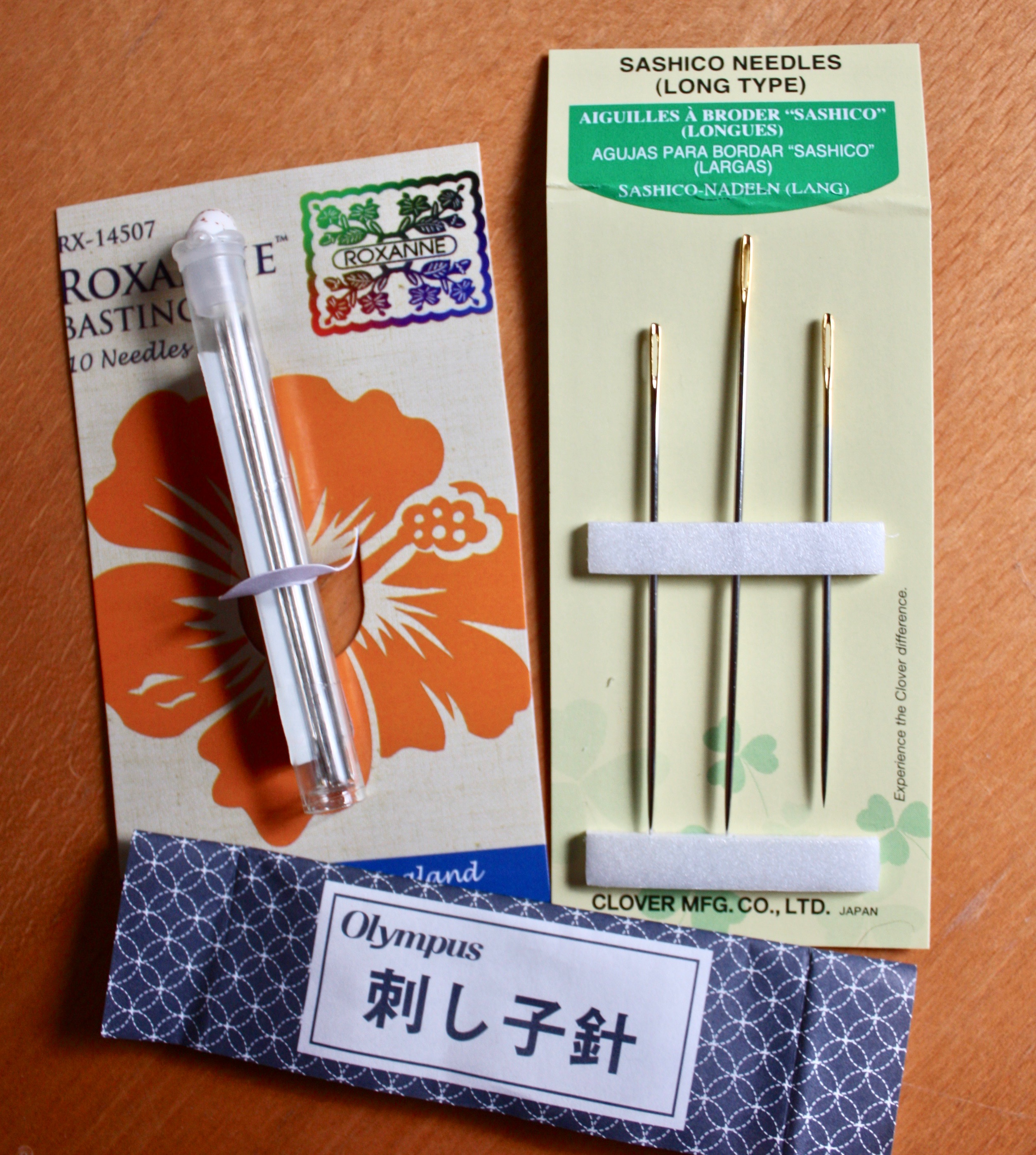 Clover Gold Eye Size 9 Applique Needles 15 pc LOT OF 2