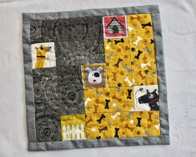 Cross Bones White on Black Polycotton Bunting Novelty Patchwork craft Fabric